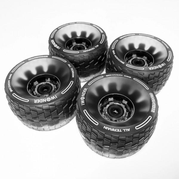 Cloudwheel Discovery Wheels, halbtransparent, schwarz